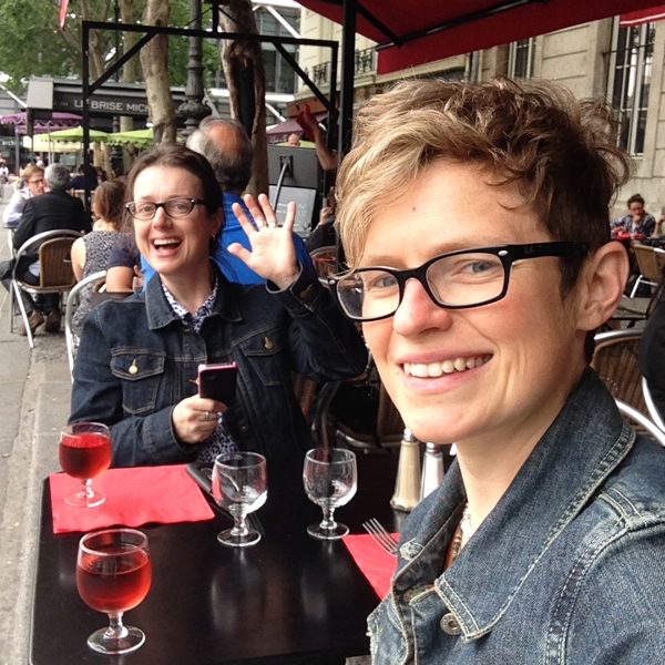 Mardi Michels and Monica Shaw in Paris on eatlivetravelwrite.com