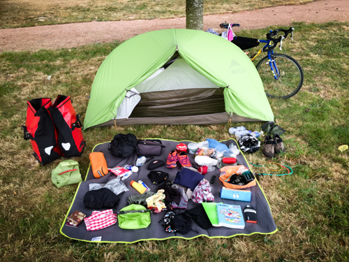 How to pack for a bicycle tour