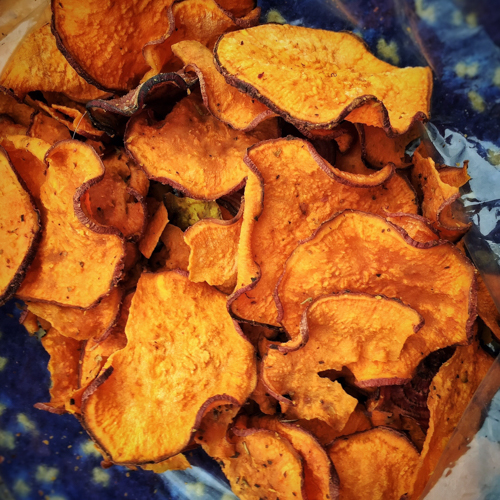 Sweet potato Crisps.