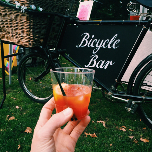 Honestly the best bloody mary I've ever had, courtesy of the Bicycle Bar