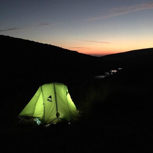 Sun setting over the River Plyn, Dartmoor