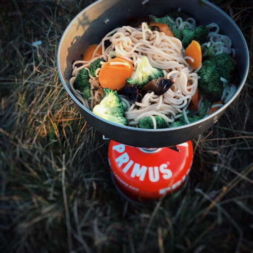 Campstove dinner: Clearspring Miso Ramen