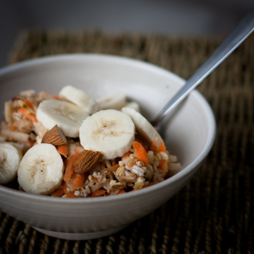 Bircher muesli with carrots