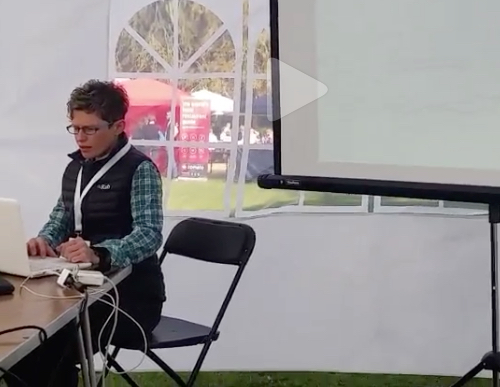 Bundled up & looking analytical for my Awesome Analytics talk. Video credit: @travelsfortaste.