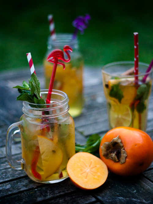 Rum and Persimmon Punch