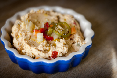 Hummus with Red Chillies and Cumin Seed
