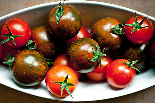 Heirloom tomatoes for British Tomato Week