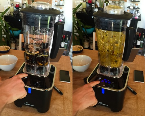 Froothie Optimum G2.1 Blender making Salsa Macha