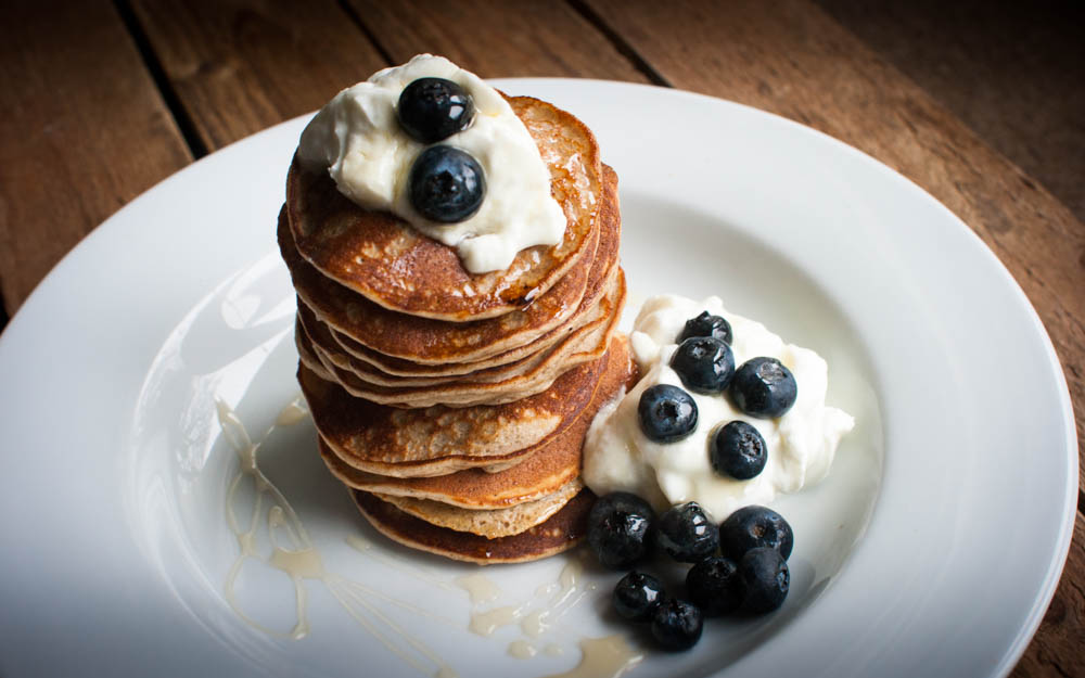 Banana and Blueberry Post-Workout Pancakes