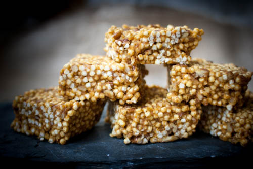 Pumpkin protein crispie treats