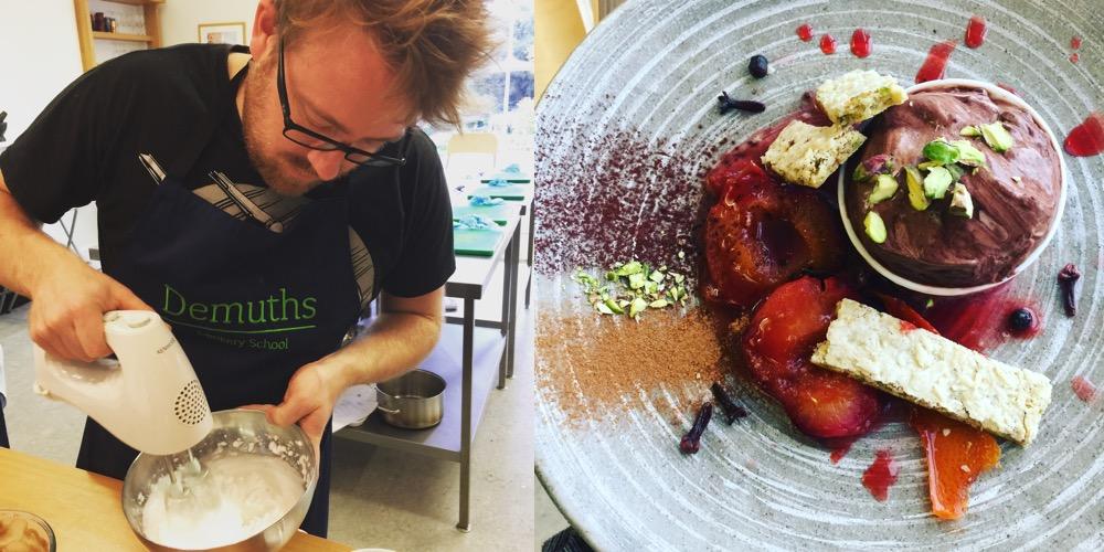 Making aquafaba at Demuths Cookery School