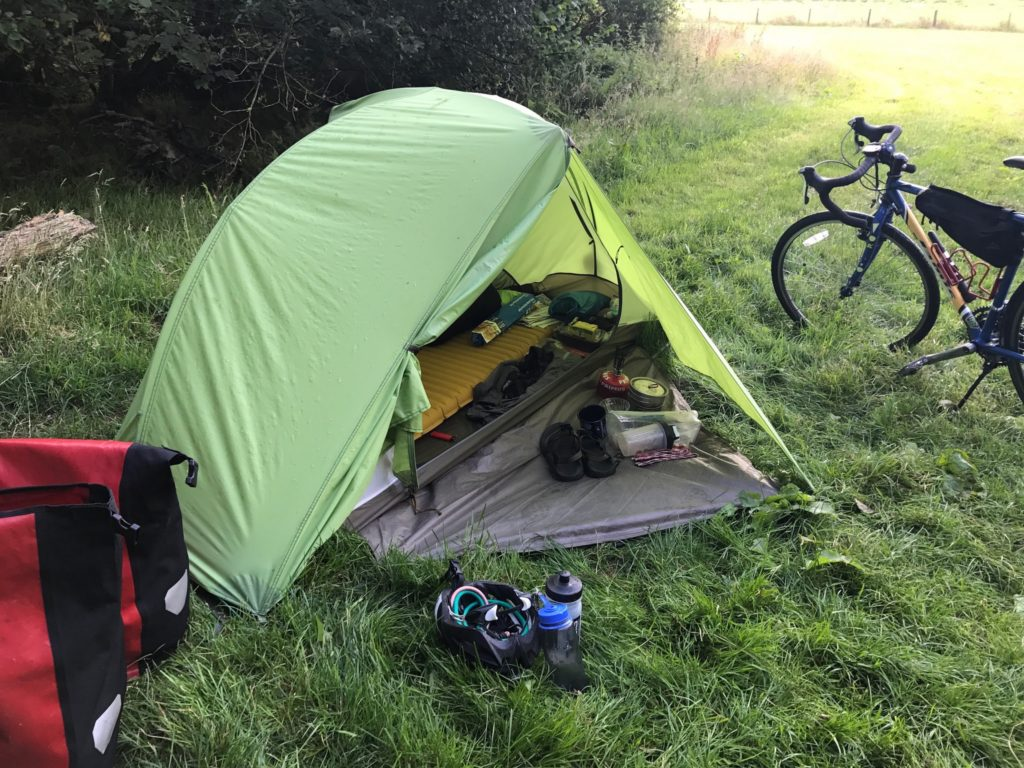 Camping in Wales with a Bicycle