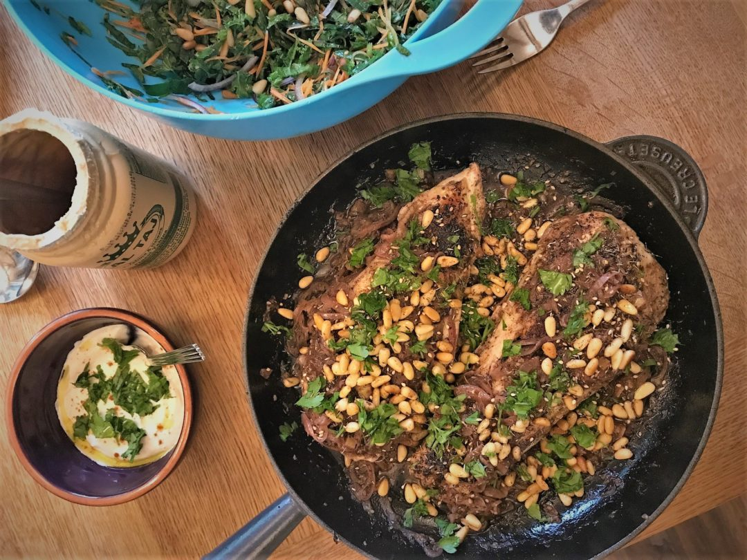 Chicken with sumac, za'atar and preserved lemon